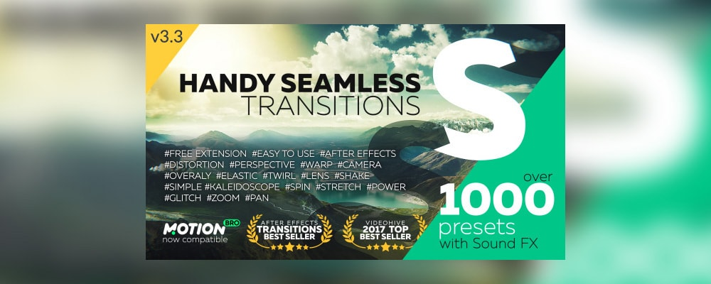 VideoHive Handy Seamless Transitions 3 3 for After Effects